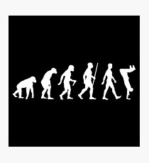 Human Evolution Parkour Evolution Photographic Print