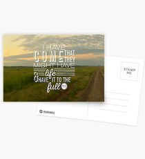 John 10:10 Full Life in Jesus Postcards