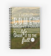 John 10:10 Full Life in Jesus Spiral Notebook