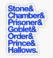 Deatahly Hallows Quotes Sticker