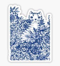 Garden Cat Doodle Sticker
