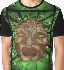 Face of Boe Stained Glass Graphic T-Shirt
