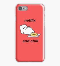 Neko Atsume - Tubbs (netflix and chill) iPhone Case/Skin