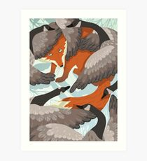 Smirre Fox Art Print