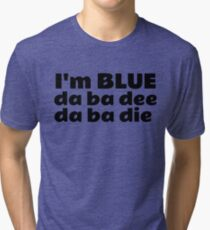 Blue Techno Party Music Dance Tri-blend T-Shirt