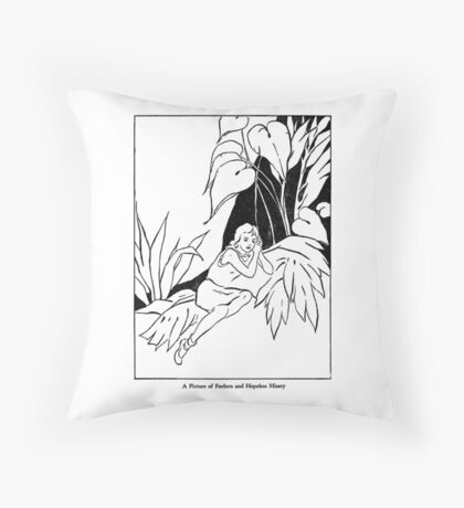 A Picture of Forlorn and Hopeless Misery Throw Pillow