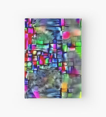 Artificial neural style Cubism mirror cat Hardcover Journal