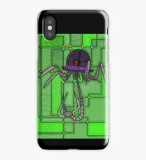 Robotic Bowler Hat - stained glass villains iPhone Case/Skin