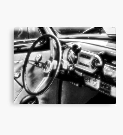 """Inside a Classic Chevy""... prints and products Canvas Print"