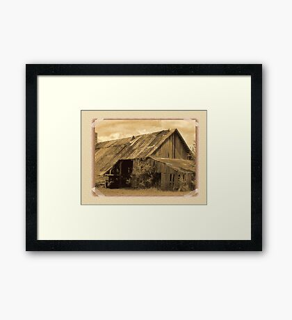 """""""Timeworn Photo Albums and Golden Days""""... prints and products Framed Print"""