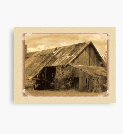 """""""Timeworn Photo Albums and Golden Days""""... prints and products Canvas Print"""