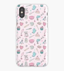 Pink Baking Pattern iPhone Case