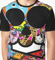 Skull Sticker Bomb Graphic T-Shirt