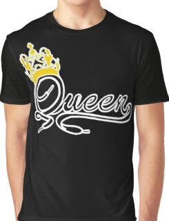 Queen (Black) The Hers of the His and Hers Graphic T-Shirt
