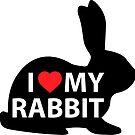 I Love My Rabbit - Rabbit #1 by AdanichDesign