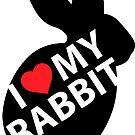 I Love My Rabbit – Rabbit #2 by AdanichDesign