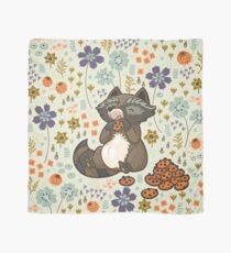 Funny little raccoon eating cookies Scarf