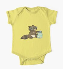 Funny little raccoon collects crickets Kids Clothes