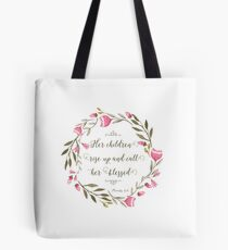 Her Children Rise Up & Call Her Blessed  Tote Bag
