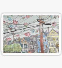 San Francisco Houses #7 Sticker