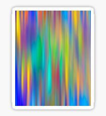 Rainbow Stripes abstract art Sticker