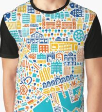 Barcelona City Map Poster Graphic T-Shirt