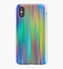 Rainbow Stripes abstract art iPhone Case/Skin