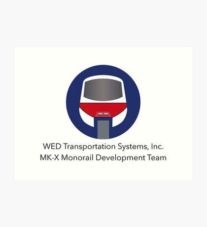 MK-X Monorail Development Team Art Print