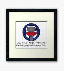 MK-X Monorail Development Team Framed Print