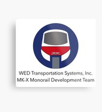 MK-X Monorail Development Team Metal Print
