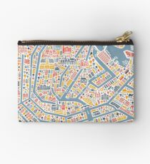 Amsterdam City Map Studio Pouch