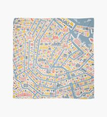Amsterdam City Map Scarf