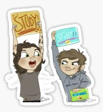 hey! you! study!!! Sticker
