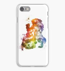 Beauty & The Beast Watercolour Design iPhone Case/Skin