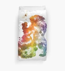 Beauty & The Beast Watercolour Design Duvet Cover