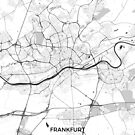 Frankfurter Stadtplan Grau von HubertRoguski