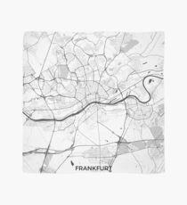 Frankfurt City Map Gray Scarf