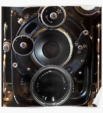 Vintage Camera Photography Lenses Poster