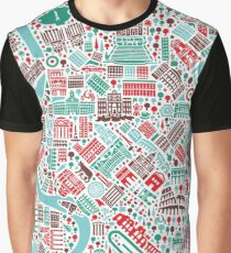 Rome City Map Graphic T-Shirt