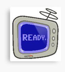 Commodore 64 Monitor Screen TV Canvas Print