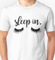 Sleep In Eyelash Print Unisex T-Shirt