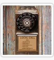 phone antique rotary dial pay telephone booth Sticker
