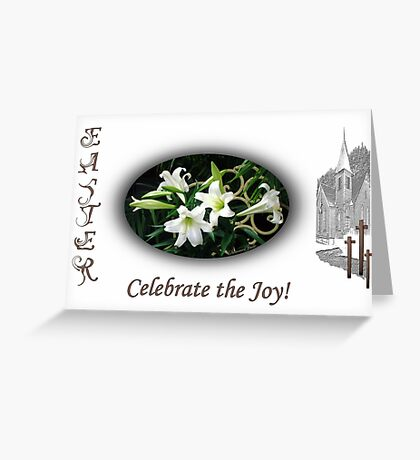 Easter Lilies Fill the Church Greeting Card