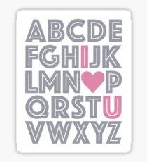 ABC Baby Nursery Room Decor - PINK & GREY GRAY Sticker