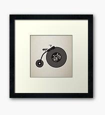 Penny Record Black Framed Print