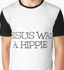 Funny Hippie Jesus Graphic T-Shirt