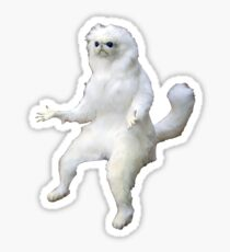 persian cat room guardian  Sticker