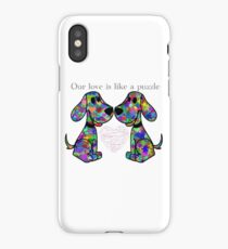 """""""Our love is like a puzzle"""" puppies iPhone Case"""