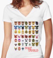 FNAF World Women's Fitted V-Neck T-Shirt
