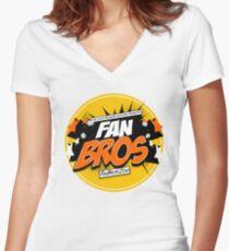 FanBros Full Logo Women's Fitted V-Neck T-Shirt